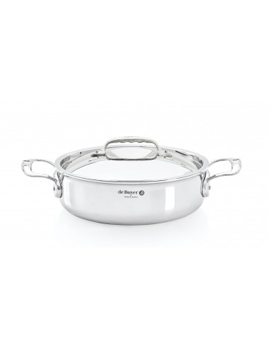 De Buyer Affinity sauté-pan with 2 handles and lid - Mimocook