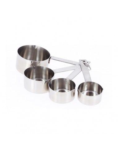 Set 4 chávenas medidoras inox da De Buyer - Mimocook