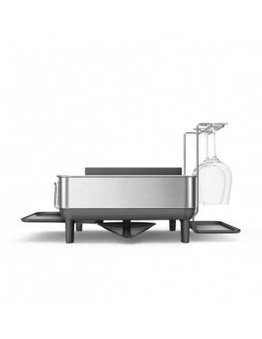simplehuman steel frame dishrack with wine glass holder - Mimocook
