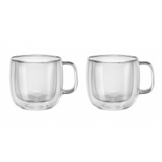 Set of 2 cappuccino glasses with handle 450 ml ZWILLING Sorrento - Mimocook