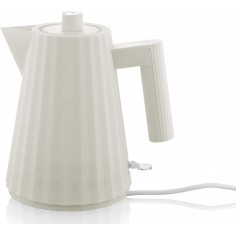 Alessi Plissé 1L Electric Water Kettle white - Mimocook