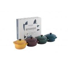 Le Creuset Stoneware Botanique Set of 4 Petite Casseroles - Mimocook