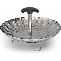 OXO Stainless Steel Steamer with Extendable Handle - Mimocook