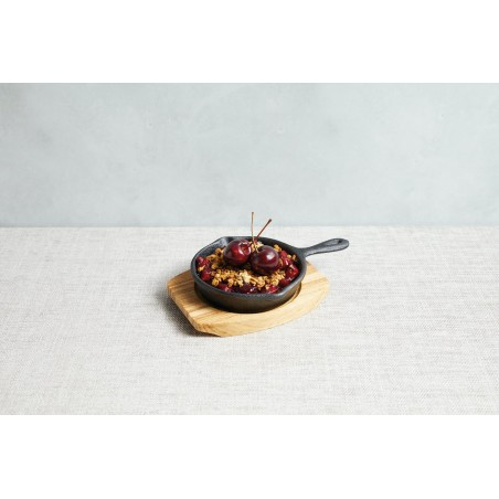 Kitchen Craft Artesà Cast Iron Round Fry Pan with Board - Mimocook