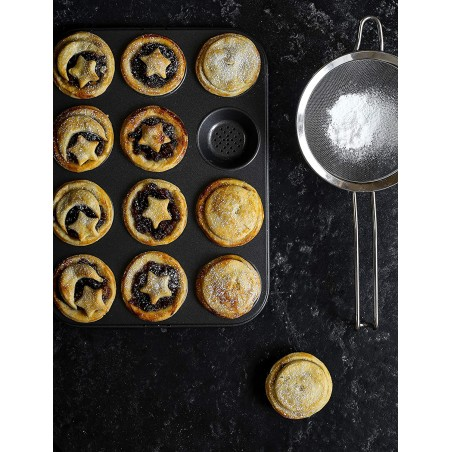 Kitchen Craft Master Class Crusty Bake Non-Stick Hole Shallow Baking Pan - Mimocook